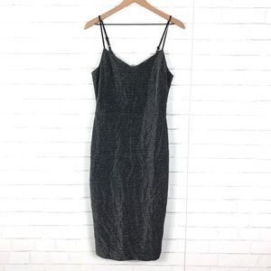 NEW 1. State Metallic Midi Dress